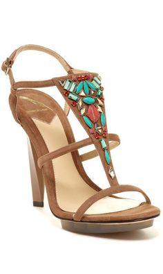 Brian Atwood Aztec Heels  www.voguehaven.com http://signup.voguehaven.com/ #brianatwoodsandals
