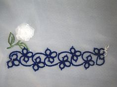 Bracelet en dentelle de frivolité Flora