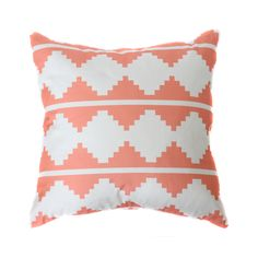 AZTEC PILLOW COVER IN CORAL $38