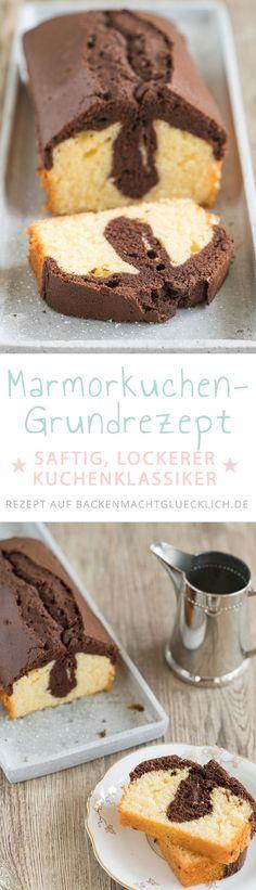 Marmorkuchen ist einer der beliebtesten Rührkuchen. Mit diesem einfachen Grundrezept wird der Marmorkuchen garantiert saftig und locker.