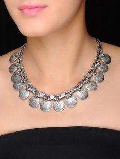 Psychedelic Silver Necklace