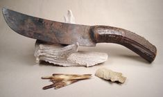Fur trade era style knife with antler handle