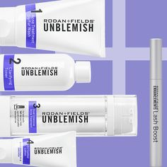 Buh-bye blemishes...hello fabulous lashes! Clear Skin, Love Your Skin, Good Skin, Unblemish Rodan And Fields, Acne Blemishes, Pimples, Rf Lash Boost, Care For All, Independent Consultant