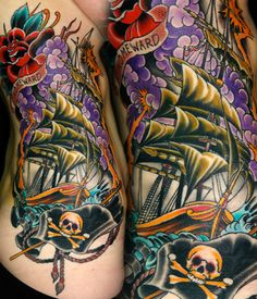 HOLY CRAP, THESE COLORS! Kings Avenue Tattoo in NYC.