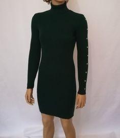 4ceb964c605db Fırsat ürünlerimizden olan Yeşil Boğazlı Kolları Zımba Detaylı Triko  Elbiseye 19,90 TL ödeyerek sahip