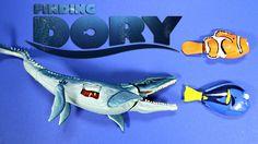 New Finding Dory Disney,Pixar Swimming Dory & Marlin Vs Mosasaurus Juras...