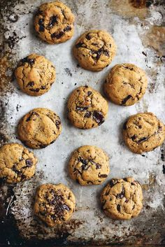 These Chickpea Flour Chocolate Chip Cookies are addicting in the best way. They're dairy free, gluten free, grain free and may just be the best gluten free cookies ever. Replace egg with Flax Meal Egg and its Vegan! Best Gluten Free Cookies, Gluten Free Desserts, Vegan Desserts, Health Desserts, Vegan Recipes, Gourmet Cookies, Cookies Vegan, Baking Recipes, Cookie Recipes