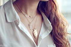 Gold Arrowhead Necklace, Layers, Necklace Layers