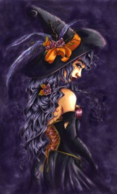 "Magick Wicca Witch Witchcraft:  #Witch ~ ""Violet,"" by Kerrie-Jenkins, at deviantART."
