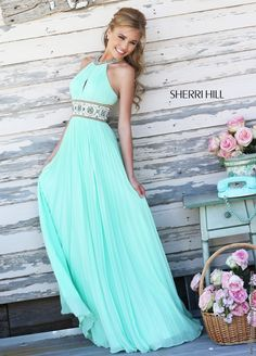 Sherri Hill 11251 Halter Chiffon  Prom Dress from Bridal Expressions