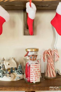 Going on vacation? Need to carry around Elf on a Shelf for a day trip? Take a look at this Elf on the Shelf in a Jar idea for travel. No Elf magic lost! Carry Elf on the Shelf on vacation, do the movies, to dinner, a relatives house and more. New Elf on a Shelf Ideas plus Elf on a Shelf printables. #FrugalCouponLiving #ElfontheShelf #ElfontheShelfIdeas #ElfIdeas #funnyelfideas #funnyelfontheshelf #elfprintables #freeprintables #ElfonaShelf #jar #masonjar #travel #elfontheshelfvacation The Elf, Elf On The Shelf, A Shelf, What Is Elf, Embrace The Chaos, Elf Magic, Shelf Ideas, Finding Joy, Handmade Crafts