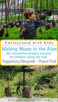 Beautiful theme trail for children with 20 interactive musical stations along the trail. Family hike in Eastern Switzerland.