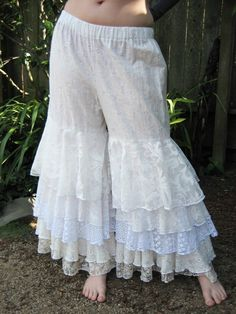 Ruffle Pantaloons   NOT WITH BLUE LACE...JUST BEIGE/BLACK OR BURGUNDY FOR ME...L.