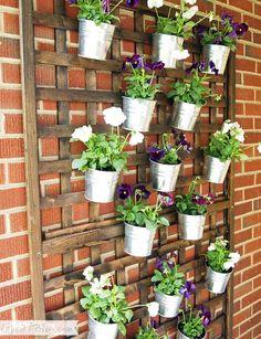 DIY Vertical Wall Planter via Cape 27