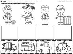 community workers my school community helpers printable books worksheets - First Grade Printable Books