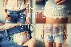Awesome shorts makeover project from Kinsey of Sincerely, Kinsey. Definitely going to do this!