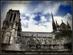 """View Paris' Notre Dame Cathedral from the Seine River. Find out more at """"Down the Wrabbit Hole - The Travel Bucket List"""". Click the image for the blog post."""