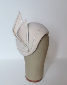 Vintage 1980s Hat  Jack McConnell Creme Cloche by FlatironVintage, $58.00