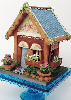 Gingerbread Cottage - This gal is amazing!  .catherinebeddall.com/collections/gingerbread/products/cottage