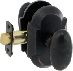 EZ-Set BP-102TB-RO SandCast Collection Rosa Series Privacy Door Knob Set Aged Bronze Knobset Privacy