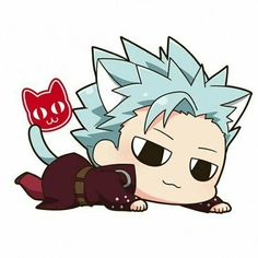Anime Chibi, Kawaii Chibi, Kawaii Anime, Seven Deadly Sins Anime, 7 Deadly Sins, Neko, Otaku Anime, Anime Art, Demon King Anime