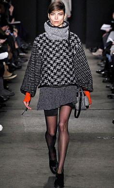 MonoPrince of Wales check Coat I Houndstooth Pattern #Coat #Fashion #Trend forFall Winter 2013 I Rag & Bone #Fall2013