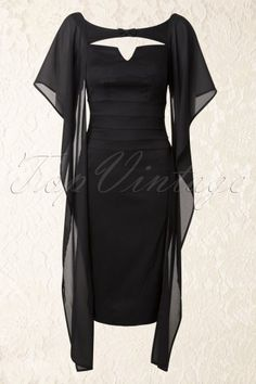 Miss Candyfloss Leonore Black Pencil Dress 100 10 13709 20141013 0024W