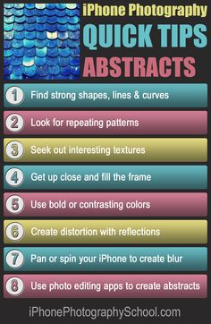Discover the secret to creating amazing abstract iPhone photos with these 8 quick & easy tips: http://iphonephotographyschool.com/quick-tips-abstract