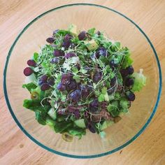 Simple Romaine Salad with Blueberries and Apple Cider Vinaigrette — thewarriorwife.com blog
