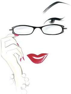 Lulu Guiness Eyewear Available at Eastgate Optical, Boise, ID. Geek Chic Glasses, Lulu Guinness, Woman Silhouette, Optical Frames, Optician, Store Design, Bobbi Brown, Vector Art, Eyeglasses