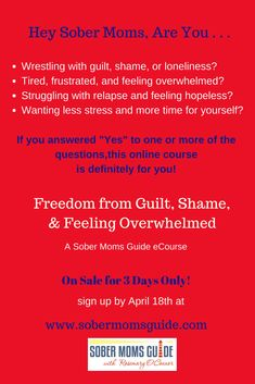 Are you, Wrestling with guilt, shame, or loneliness? Tired, frustrated, and feeling overwhelmed? Struggling with relapse and feeling hopeless? Wanting less stress and more time for yourself?