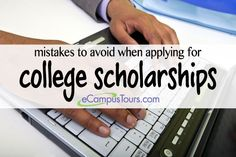 mistakes to avoid when applying for college scholarships