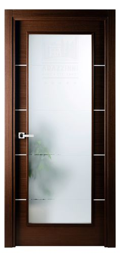 Mia Vetro Interior Door in Wenge finish with frosted glass