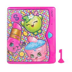 The Shopkins Password Dairy Features:<br><ul><li>Privacy inside and out</li><br><li>Electronic key touch to open</li><br><li>Spring loaded doors open automatically</li><br><li>Built in speakers plays your music</li><br><li>Invisible ink is revealed by the glow light</li></ul><br><br>The cutest, most-collectible characters from your favorite shops! The...