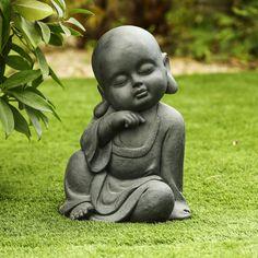 Meditation Garden, Buddha Meditation, Meditation Space, Diy Garden Fountains, Outdoor Garden Statues, Small Garden Oasis, Baby Buddha, Buddha Garden, Buddha Art