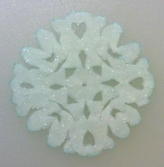 Borax Crystals Photo Gallery: Borax Crystal Paper Snowflake