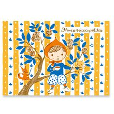 Utako Yamada (Karel Capek tea shop) -  have a nice cup of tea postcard