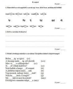 NYELVTAN FELMÉRÉS 2. OSZTÁLY - tanitoikincseim.lapunk.hu Grammar, Sheet Music, Math Equations, Education, Socks, Music Score, Sock, Teaching, Stockings