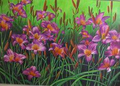 Daylillies--Framed