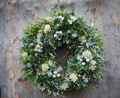 Xmas green wreath1 by missrachelphipps, via Flickr