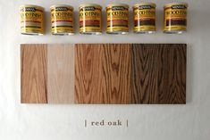 Provincial Stain On Red Oak . Provincial Stain On Red Oak . How 6 Different Stains Look 5 Popular Types Of Wood Red Oak Stain, Red Oak Floors, Red Oak Wood, Stain On Pine, Dark Walnut Stain, Wood Wood, Painted Wood, White Wood Stain, Buy Wood