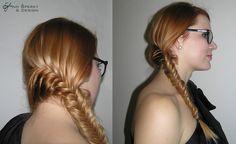 Rybí cop ( fish braid ) Braids, Dreadlocks, Fish, Hair Styles, Beauty, Design, Bang Braids, Hair Plait Styles, Cornrows