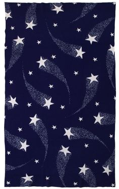 Shooting Stars blanket, pattern, print, design, delicate, night, simple, navy, winter, christmas