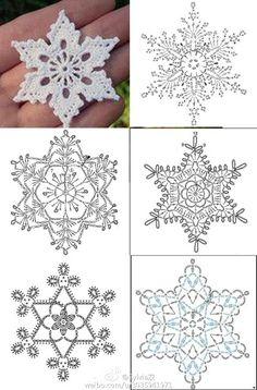 堆糖-美好生活研究所  #crochet #snowflake
