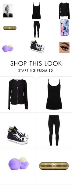 """""""Working out :)"""" by funny-babe02 on Polyvore featuring Velvet by Graham & Spencer, M&Co, Converse, Peace of Cloth, Eos and Nikki Strange"""