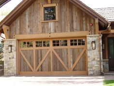 barnwood cabinets | Branwood Exterior Siding - Mixed Gray and Brown for Garage Doors and ...