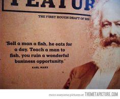 Karl Marx's words of wisdom