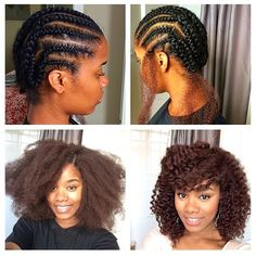 This before and after shot shows the difference a hair weave can make to…