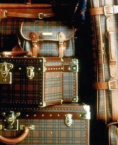 Tartan Ralph Lauren bags and cases Vintage Suitcases, Vintage Luggage, Vintage Travel, Vintage Trunks, Old Trunks, Steamer Trunk, Ralph Lauren, Hat Boxes, Vintage Design