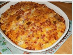 Amish Ham Casserole - Everything is coming up Amish! Amish Ham Casserole is a delicious and easy recipe that the whole family will enjoy. With just six simple ingredients, this ham and cheese casserole is a quick way to get dinner on the table. Ham And Cheese Casserole, Breakfast Egg Casserole, Casserole Dishes, Casserole Recipes, Noodle Casserole, Breakfast Dishes, Potato Casserole, Breakfast Ideas, Zuchinni Casserole